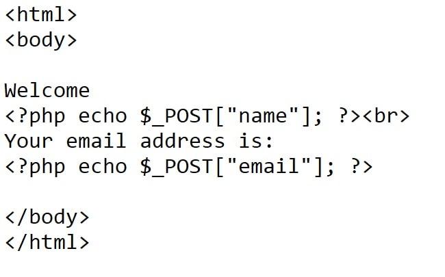 η σελίδα php στο παράδειγμα php