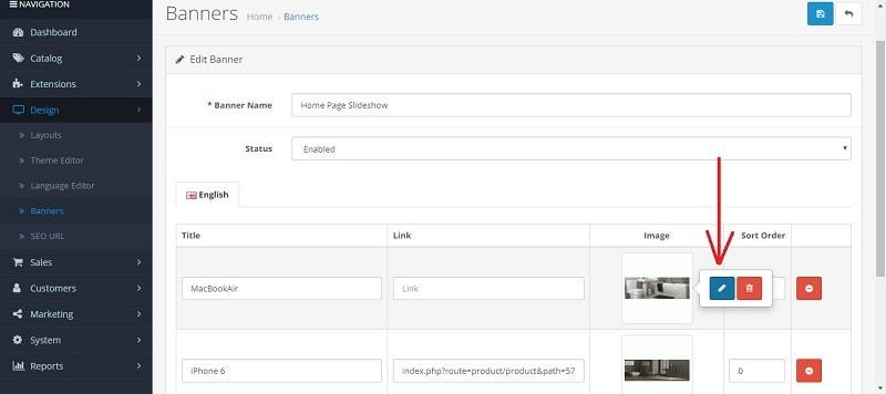 αλλαγή εικόνας opencart homepage slideshow