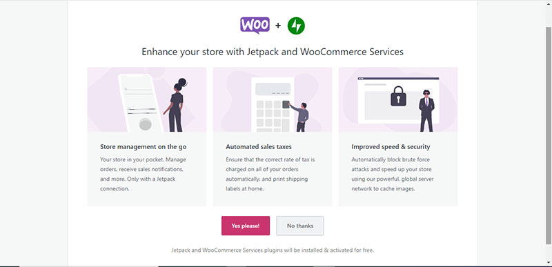 Jetpack and WooCommerce Services