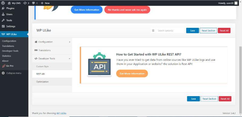λήψης δεδομένων μέσω REST API