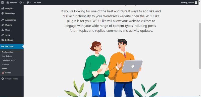 ρυθμίσεις του WP Ulike