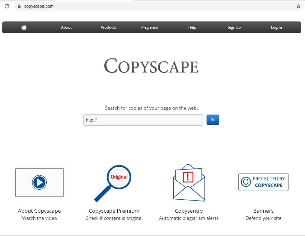 έλεγχος πρωτοτυπίας copyscape