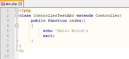 php κώδικας του controller στο mvc